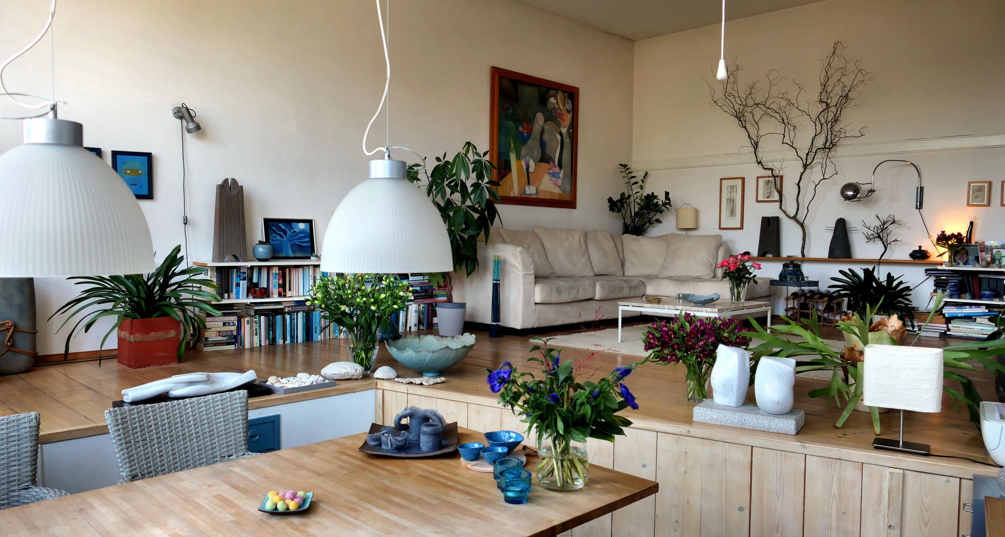 ... living room of one artist