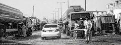 LKW Fahrer Elend in Karachi
