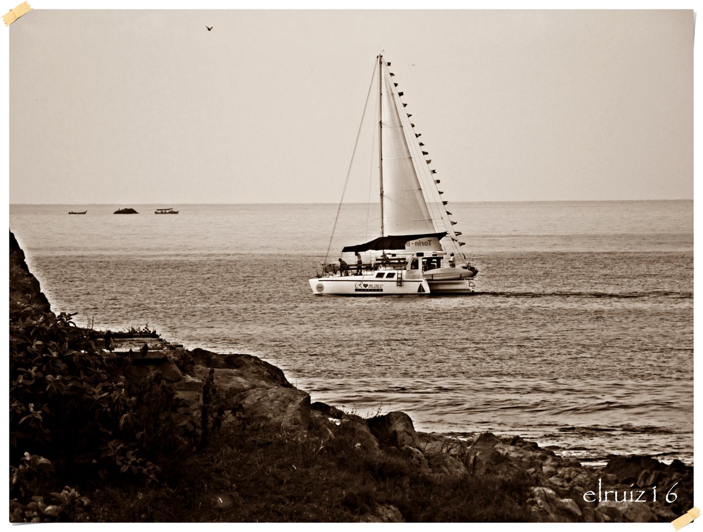 Llegando a puerto.