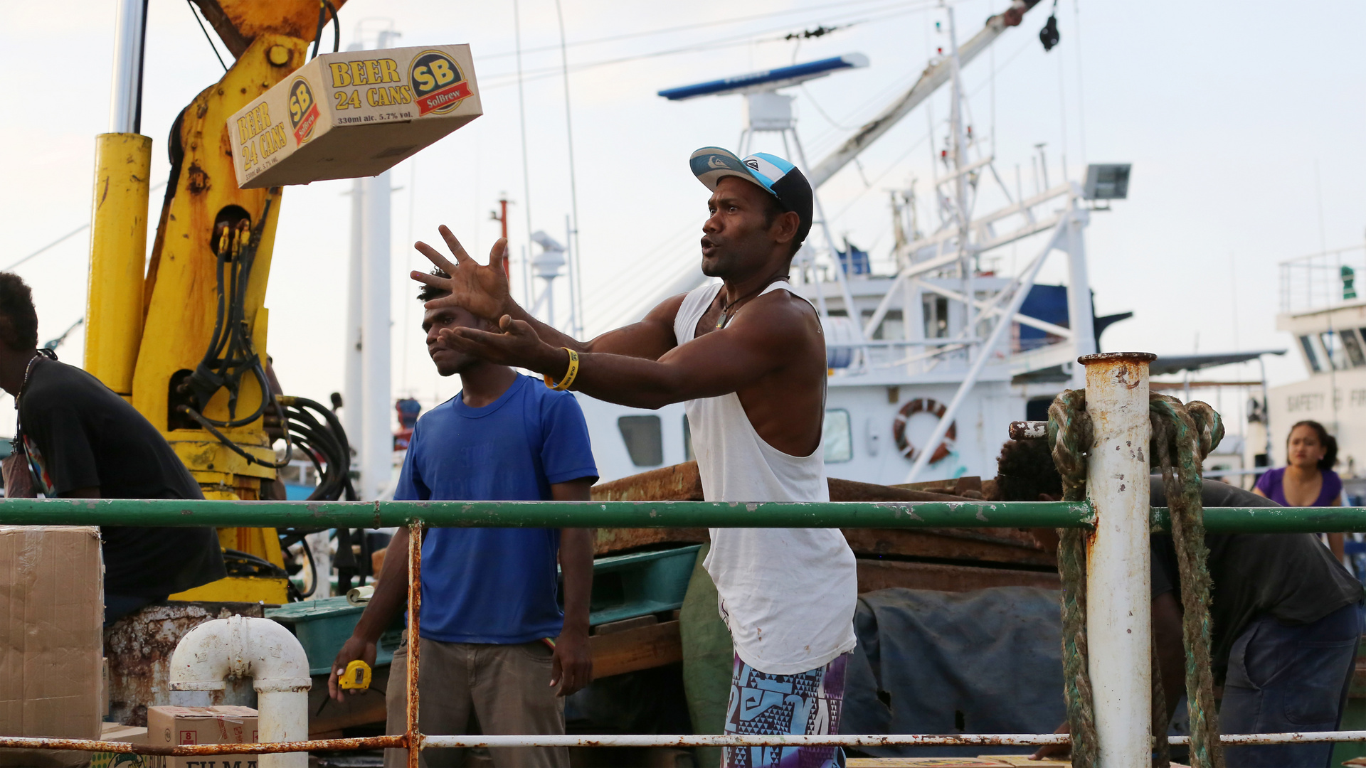 Loading Supplies for the Outer Islands III, Honiara, Solomon Islands / SB