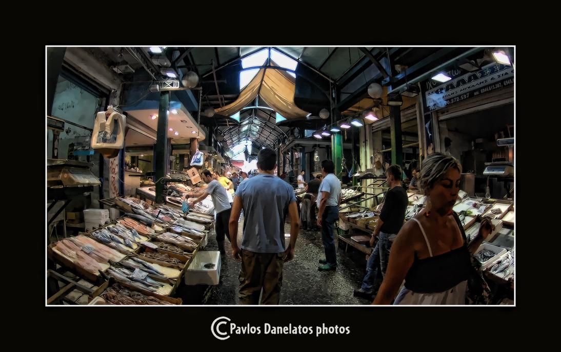 Local market of Thessaloniki