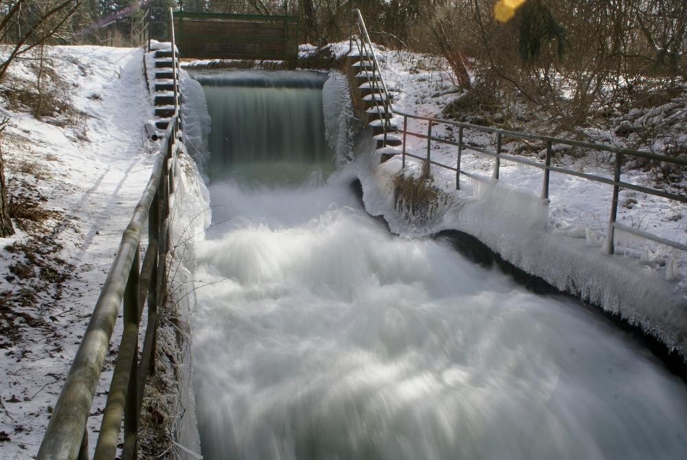 Lochbach im Winter