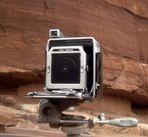 Lochkamerabild einer Lochkamera (umgekehrt)