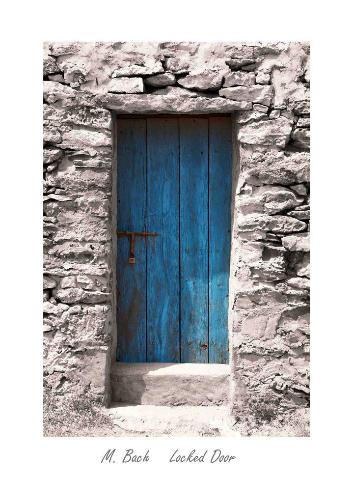 Locked Door Foto Bild Rahmenkunst Holz Stein Bilder Auf