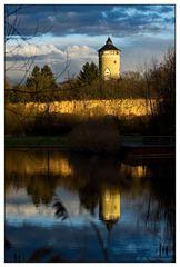 Lösswand mit Wasserturm