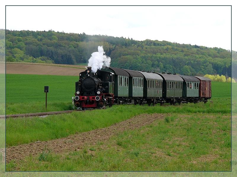 Lok 20 zu Gast auf der Kandertalbahn