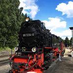 Lok 997234-0 der Harzer Schmalspurbahnen