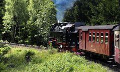 Lok 997234-0 der Harzer Schmalspurbahnen im Fahrbetrieb