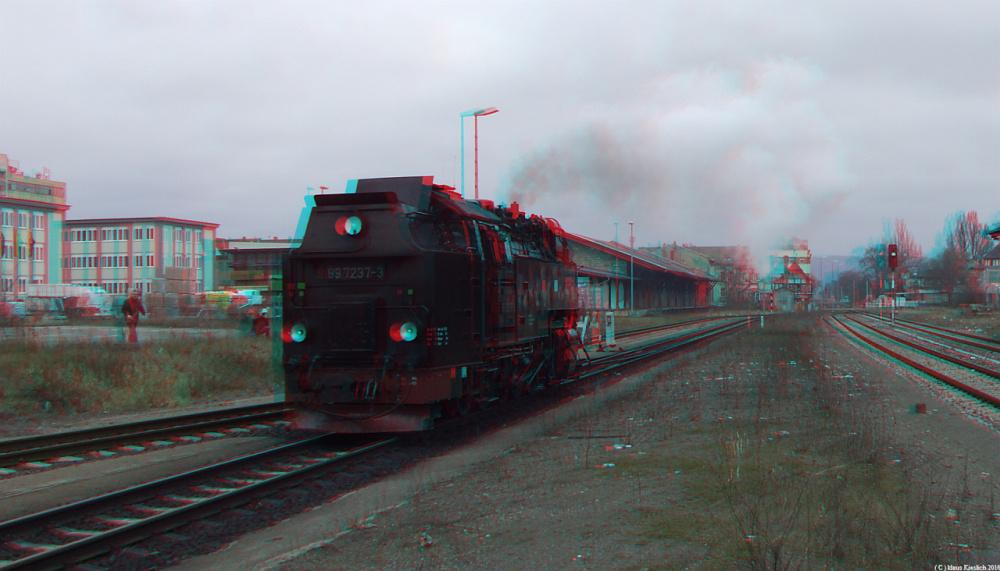 Lok der Harzerschmalspurbahn in Quedlinburg