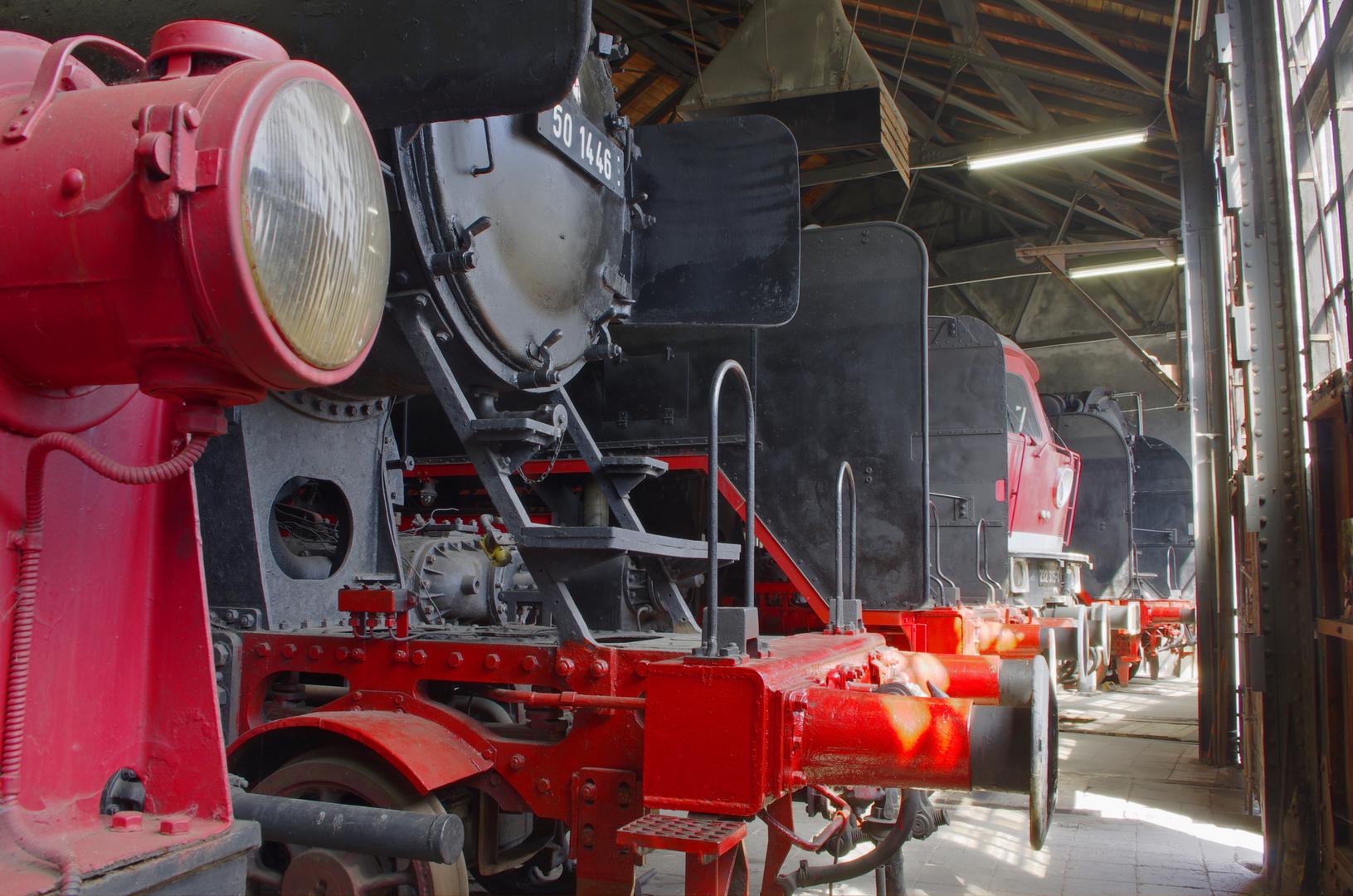 Lokschupen des Dampflok Museums
