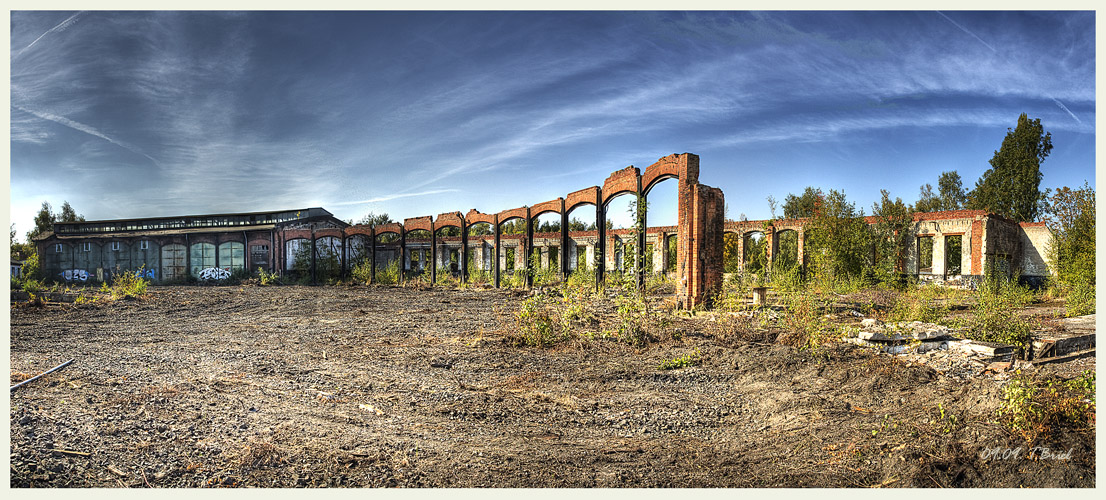 Lokschuppen Ruine