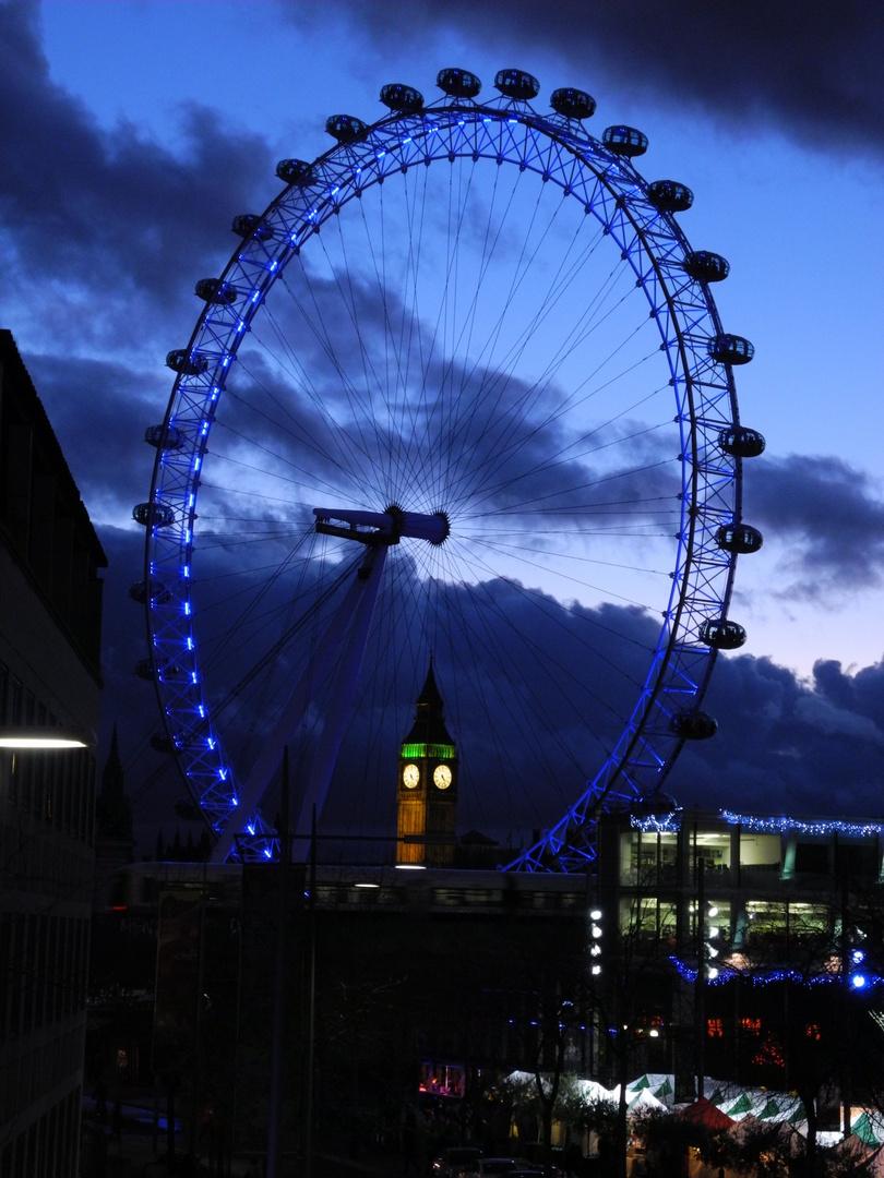 London Eye mit Elizabeth Tower (Big Ben) ;-)