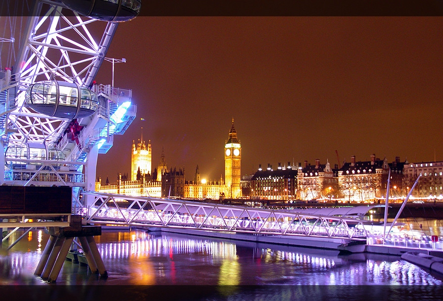 London Eye - Nachtaufnahme