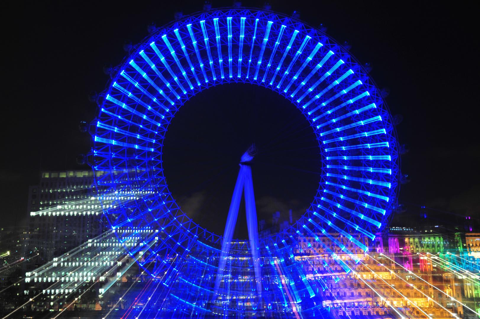 London Eye, stepped