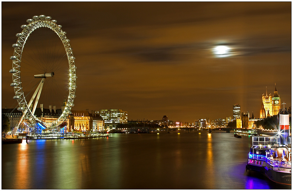 London Eye, Thames River and Big Ben