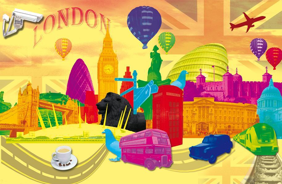 [ London - Farbenprächtige Fotomontagen ]