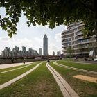 London - Vauxhall - Riverside Walk Gardens With Vauxhall Bridge and MI6 Headquarter