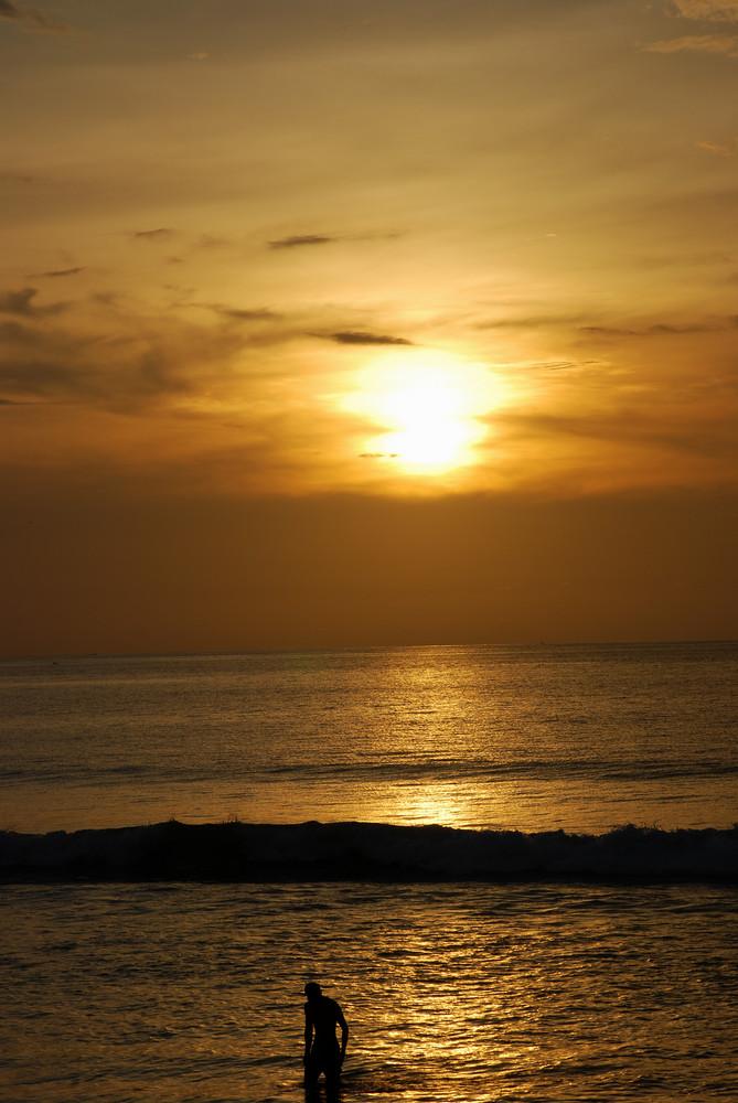 Lonely at Kuta Beach