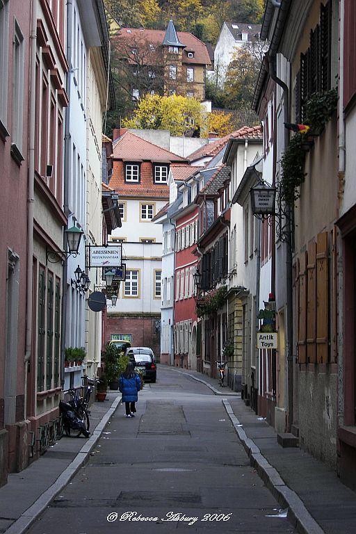 Lonely road in Heidelberg