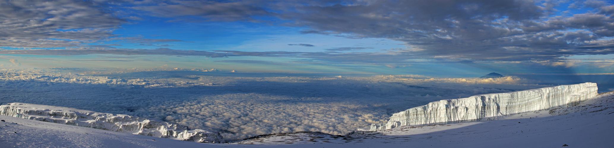 Looking down on Mt. Meru