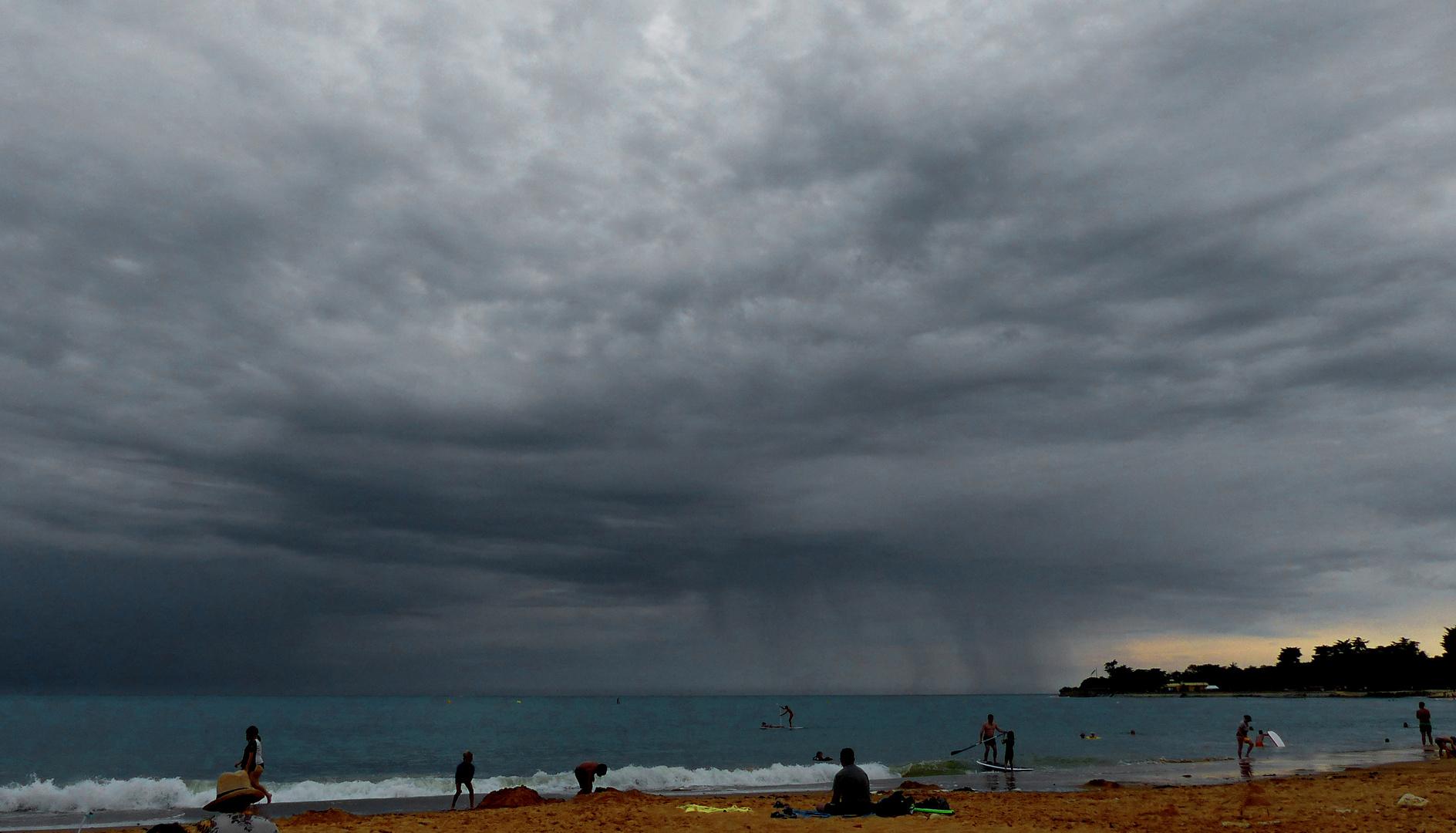 L'orage menace....