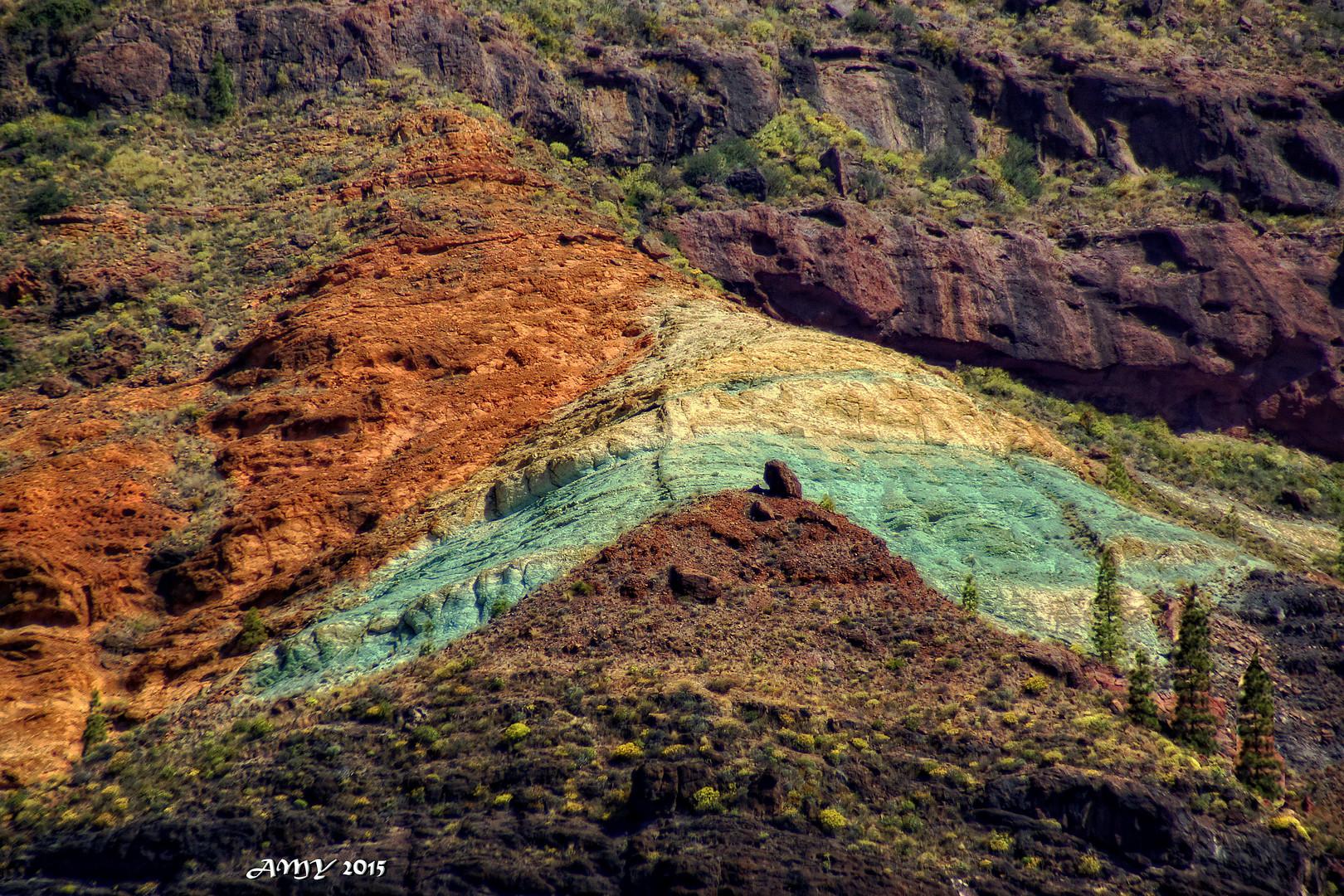 Los azulejos la monta a de colores de gran - Los azulejos gran canaria ...