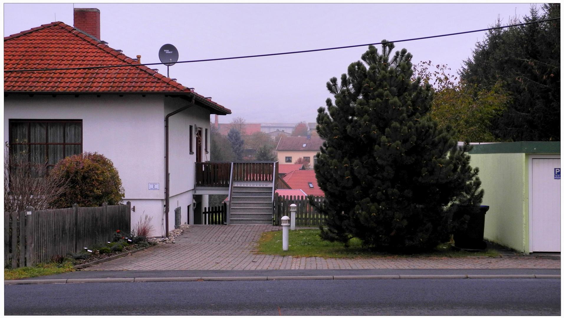 Los colores del otoño II, vista a mi casa