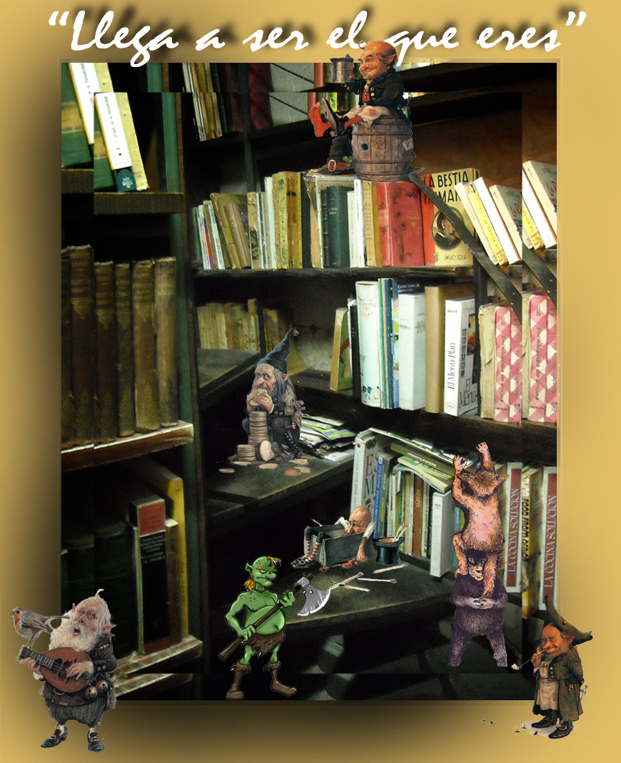 Los duendes en la biblioteca