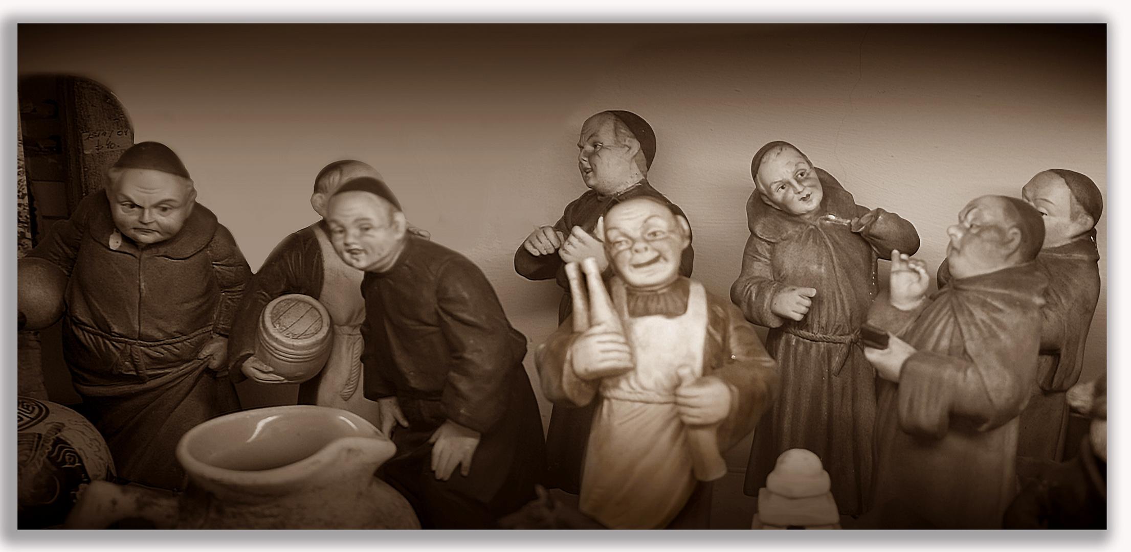 Los monjes