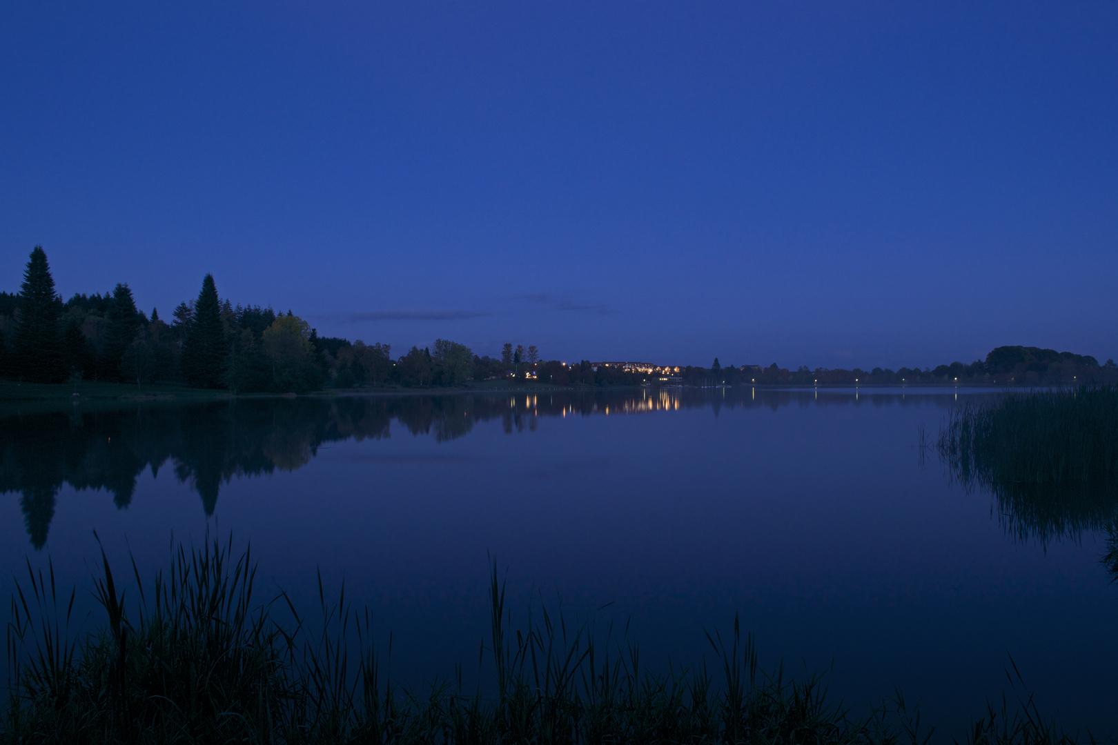 Losheimer Stausee zur blauen Stunde