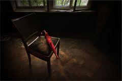 lost red umbrella