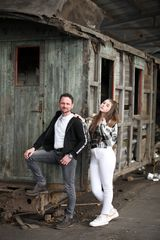 Lostplace Shooting Vater und Tochter