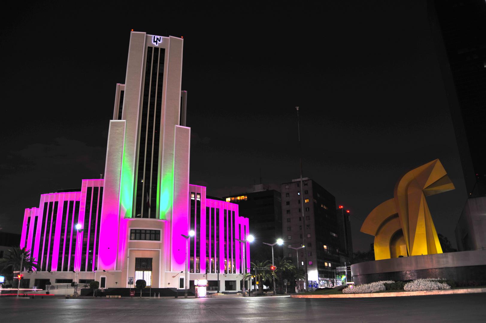 Loteria Nacional y Torre del Caballito, Reforma Mexico DF