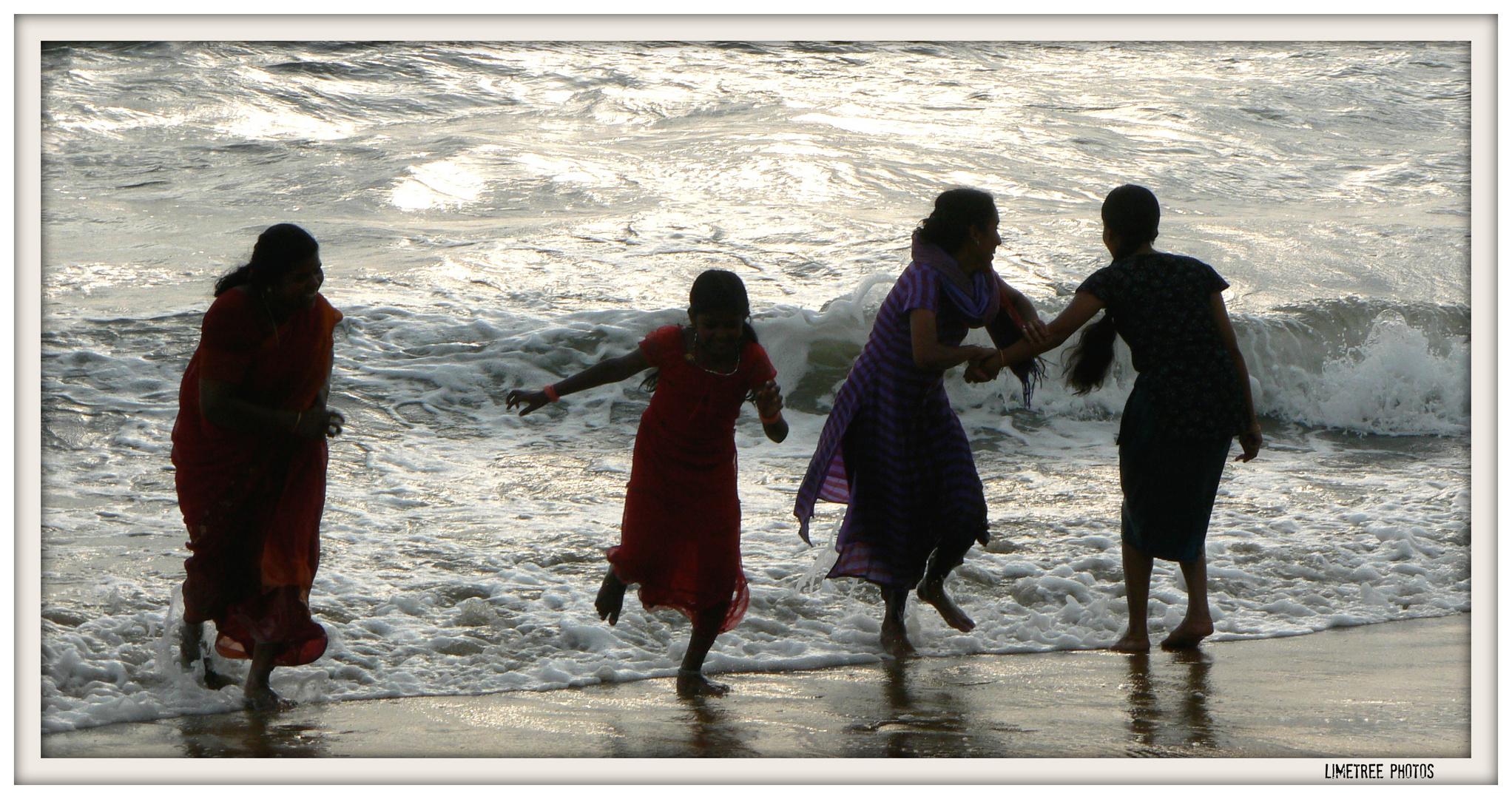 Lot's of fun at the Indian Ocean