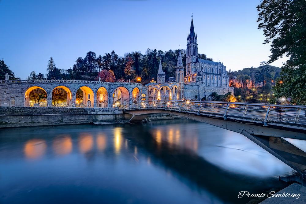 Lourdes Sanctuary at Blue Hour