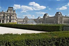 Louvre mit Glaspyramide