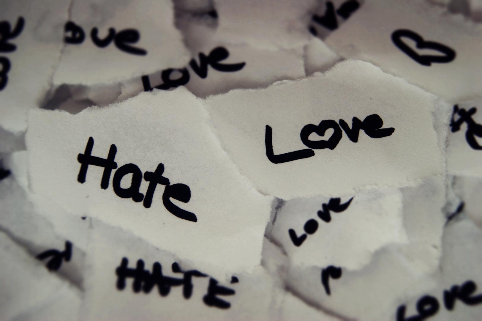 Love vs. Hate..Who wins ?!
