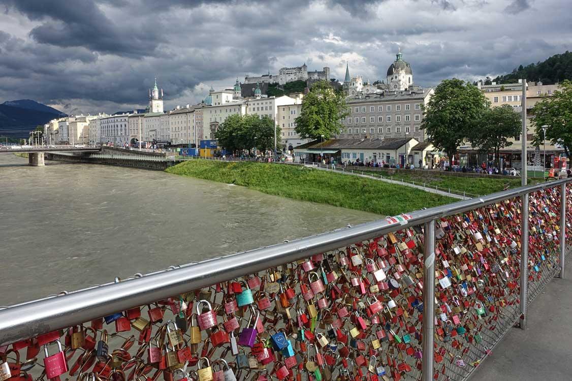 Lovelocks am Makartsteg in Salzburg