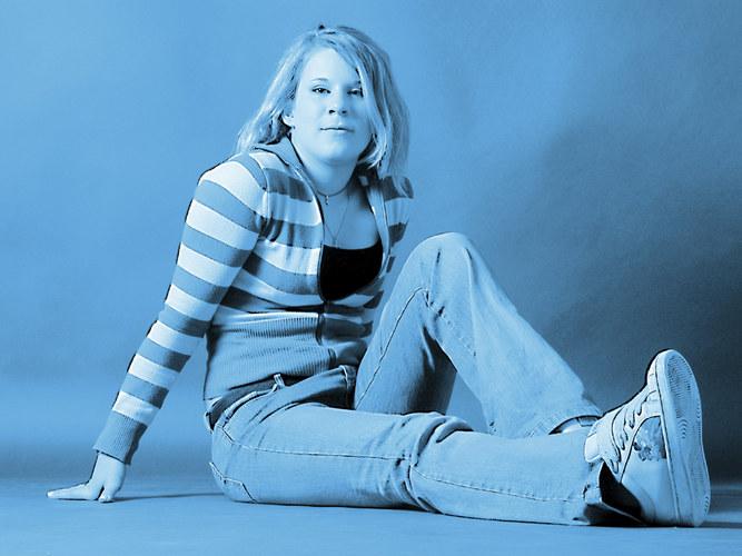 Lovely girl in blue