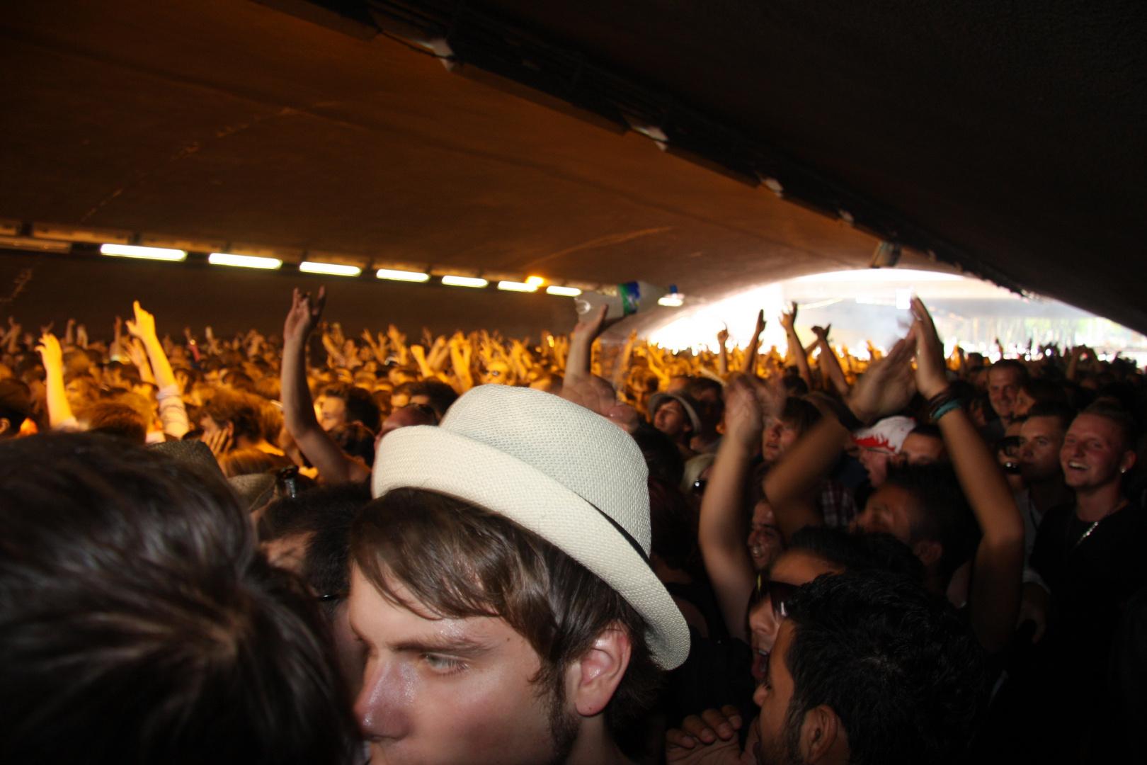 Loveparade 2010. Im Tunnel.