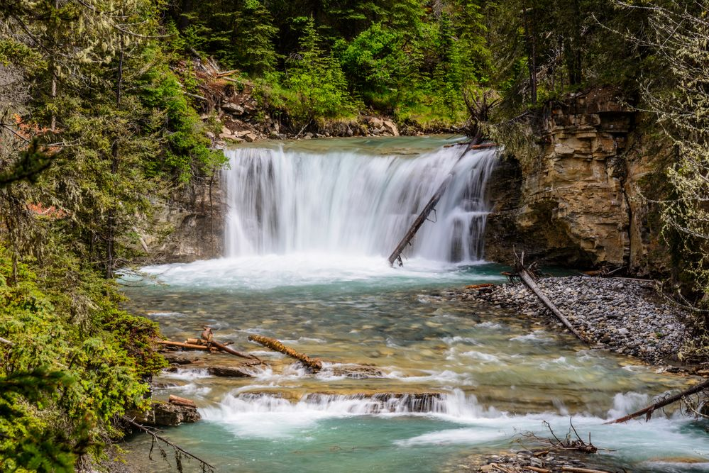 Lower Falls, Johnston Canyon, Banff NP, CA