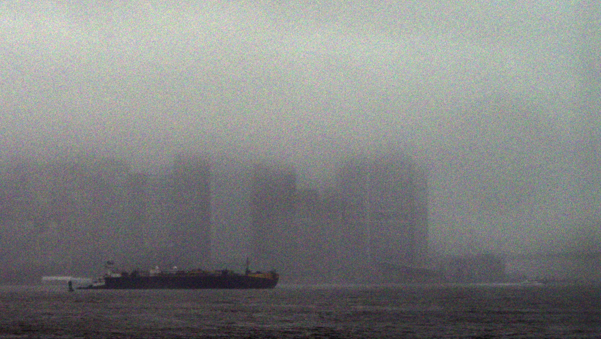 Lower Manhattan in the rain