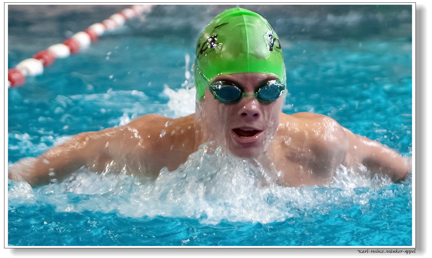 Lucas Jahrgang 1999 Gastschwimmer aus den USA in Aktion