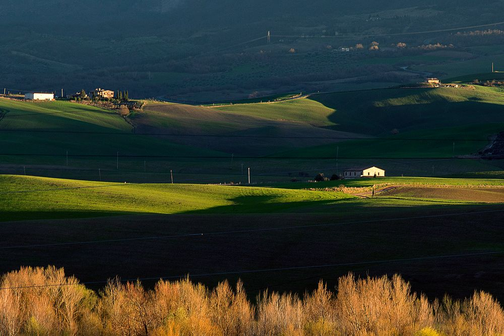 Luci radenti in val d'Orcia