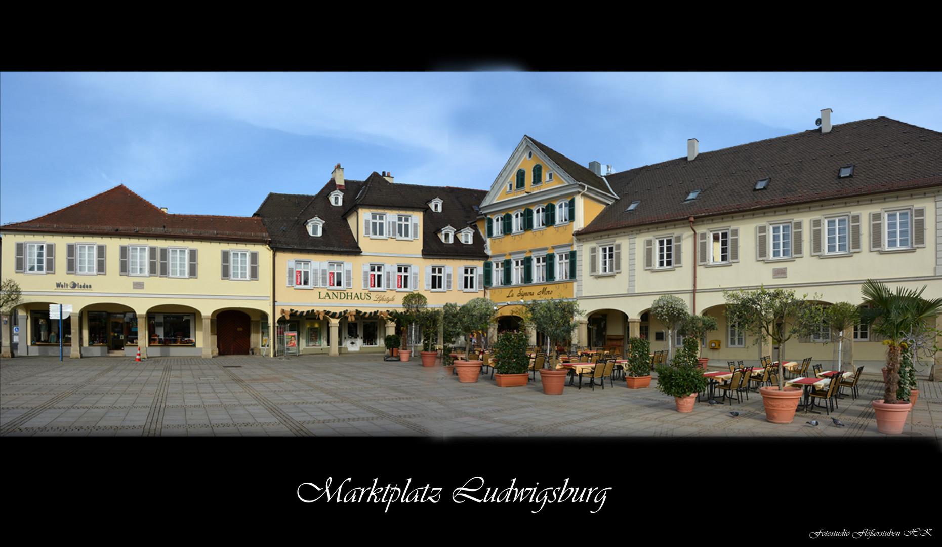 Ludwigsburg / Marktplatz/ Teilansicht/ Montage