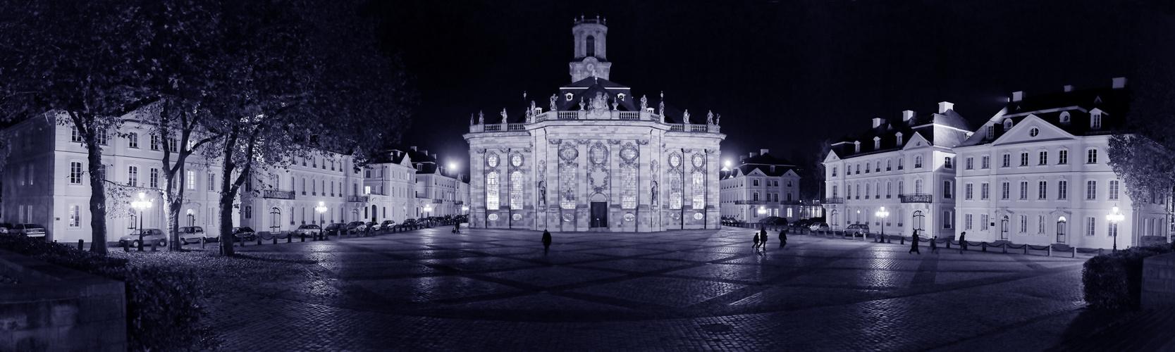 Ludwigskirche und -platz am Reformationstag 2013