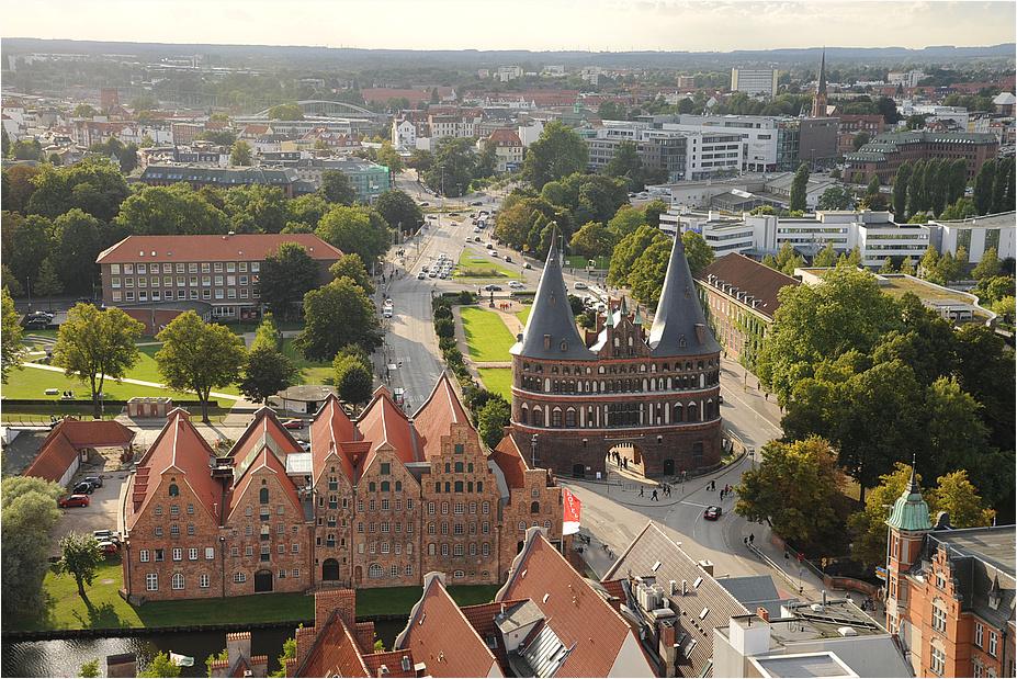 Lübeck aus der Vogelperspektive