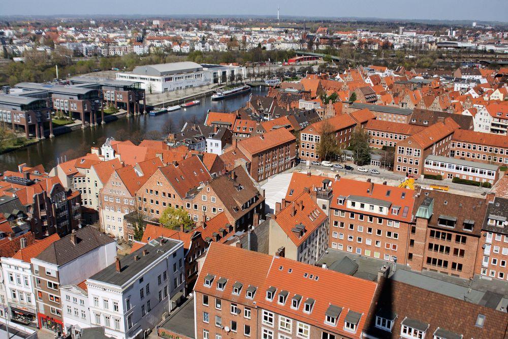 Lübeck-Blick von St.Petri....