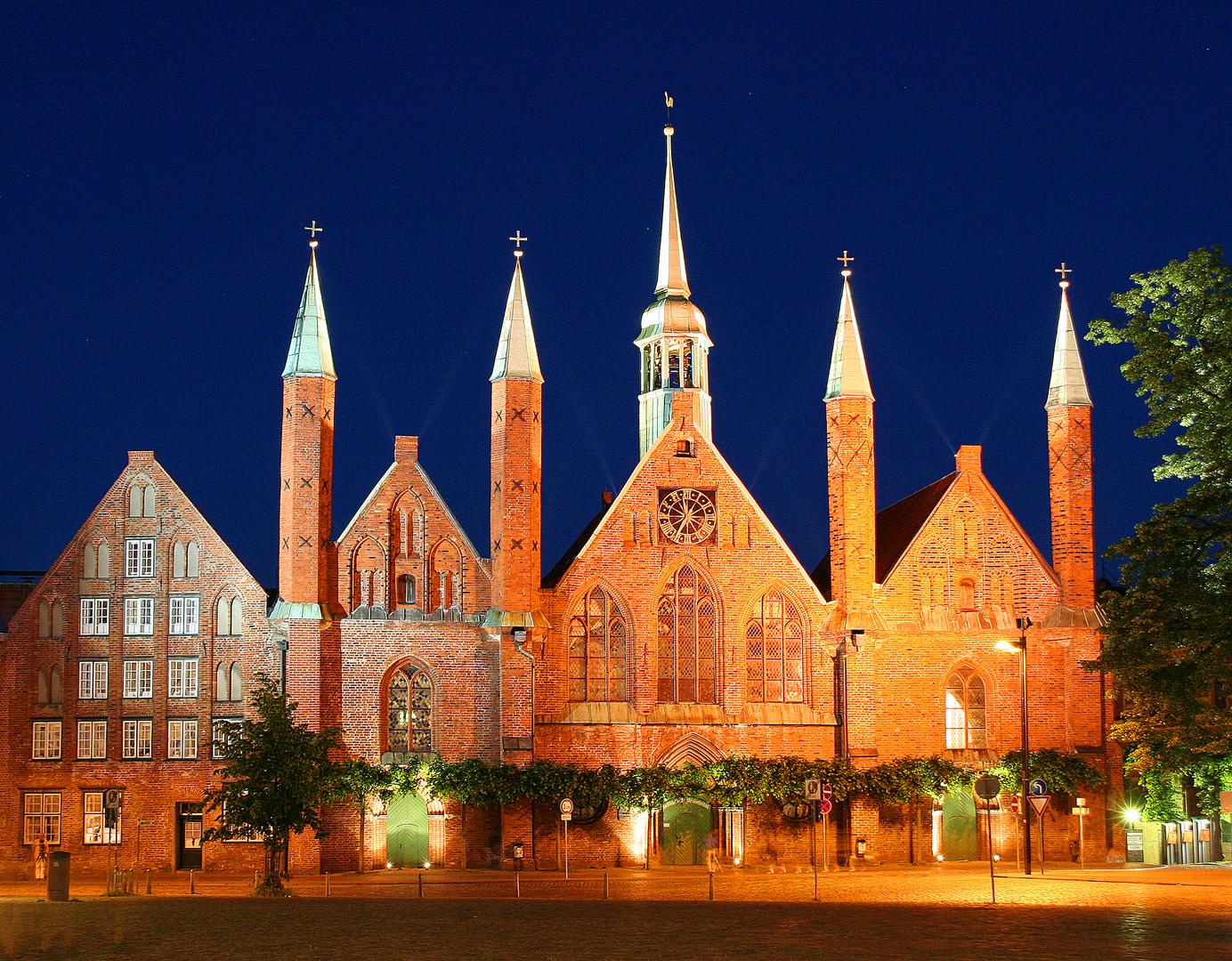 Heiligen-Geist-Hospital Alte Postkarte Hansestadt Lübeck