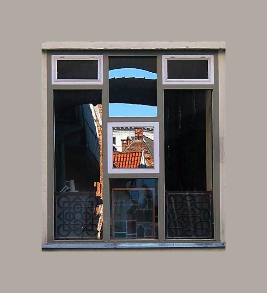 Lübeck - Fensterspiegelung (kein Photoshop)